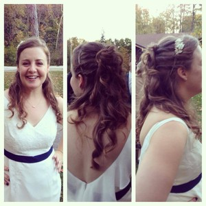 Lisa fellows wedding hair