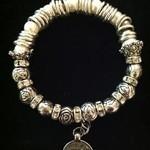 Adonai silver pearl heart